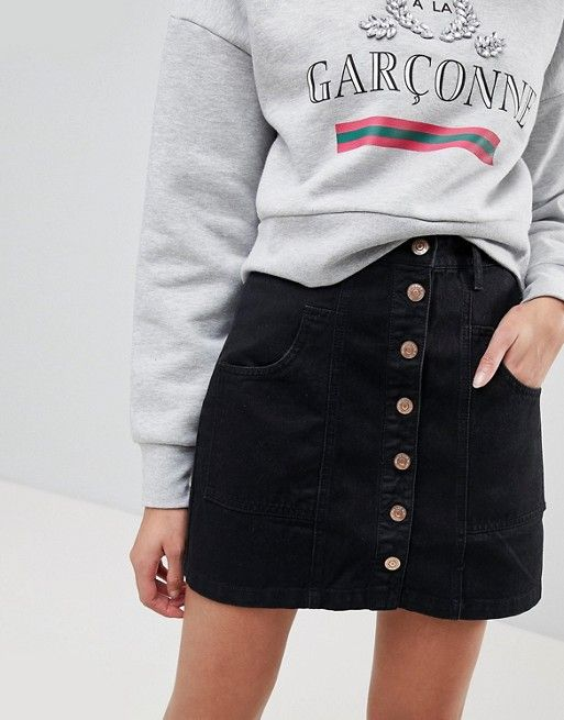 Stradivarius Denim Mini Skirt