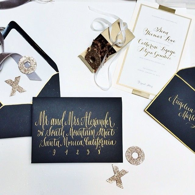 Midnight Blue White Gold | Wedding Invitations