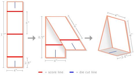 Possible tent card structure that doesn\'t require glue or tape ...
