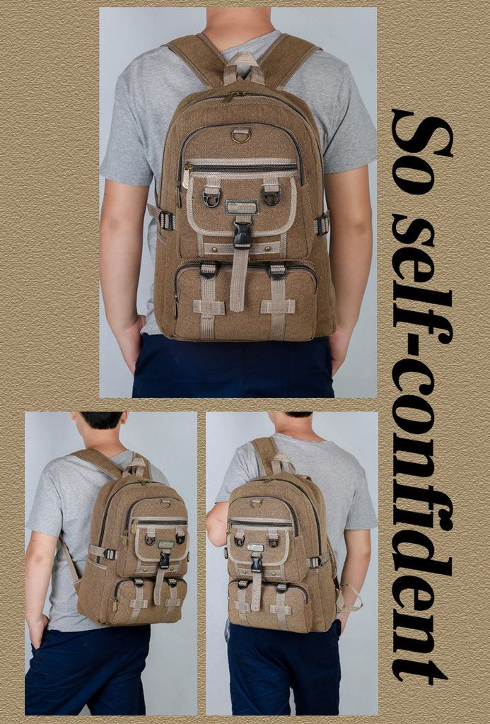 Men,s Large Capacity Canvas Backpack(item5)