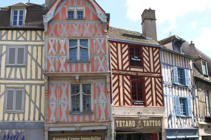 The half-timbered houses of Auxerre. (Yonne - Bourgogne)