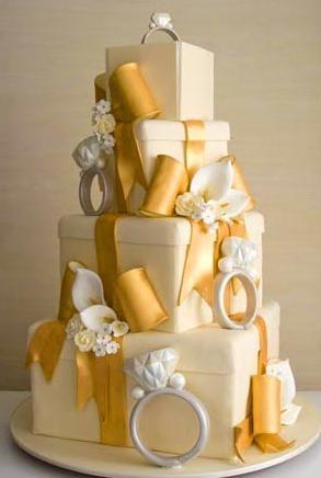 Fun engagement cake