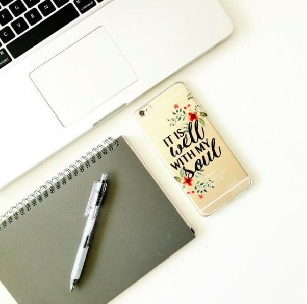 perfect workplace pick-me-up - a Prone to Wander case - inspire your workday with us! // pronetowanderla.com