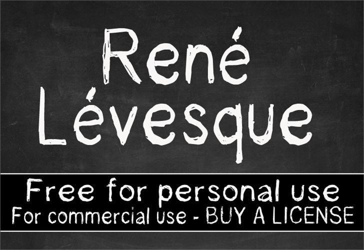 Rene Levesque font by CloutierFontes - FontSpace