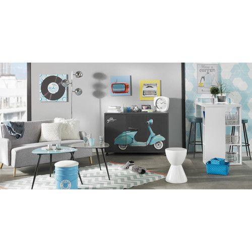 tapis vert d 39 eau wave 140x200 motifs g om triques. Black Bedroom Furniture Sets. Home Design Ideas