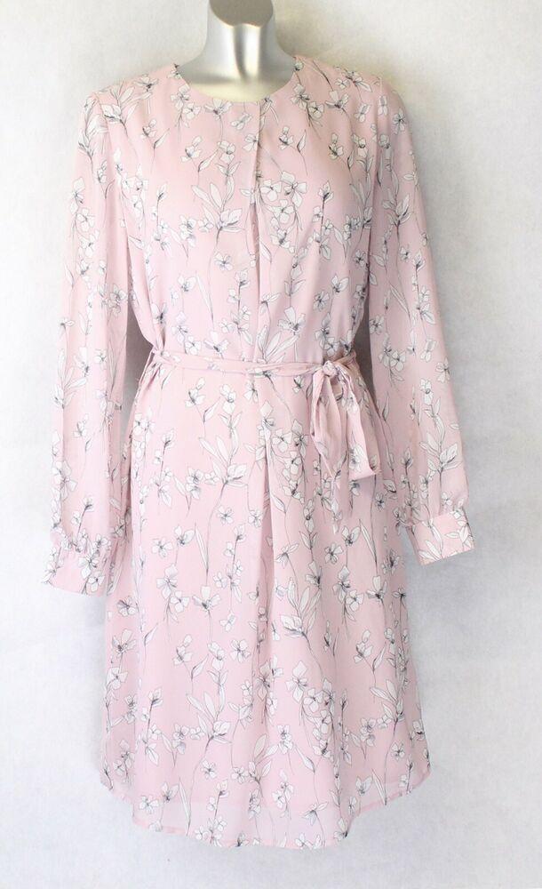 5eacda4e83c M&S Autograph Pink Mix Tunic Shift Dress Long Sleeve Size 8 #Autograph  #ShiftDress