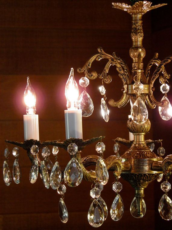 1000 Images About Chandeliers Vintage Crystal And Brass
