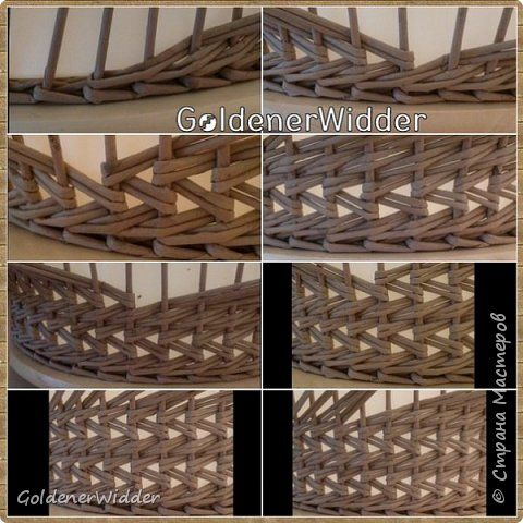 Поделка изделие Плетение Японское-послойное с послойным в две трубочки Бумага газетная Трубочки бумажные фото 2