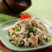 Aceh is made of small chopped boiled shrimp and seasoned with spices and spicy sour taste. In one of the restaurants in Jakarta Aceh, sour prawn sambal is popularly known as marijuana. This is due not least because these foods contain marijuana, but because this sauce is addictive people who eat it.  Aceh - Indonesia