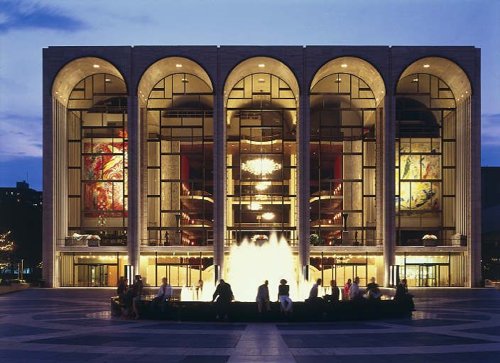 the Metropolitan Opera, Lincoln Center, NYC. Hope to take Sarah there someday to see an opera...it's been too long since I've been there.