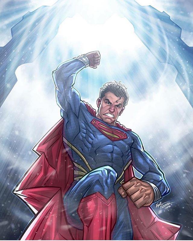 The man of steel art piece done by @kpetchock_art  #Superman #manofsteel #dccomics #dccomicsart #art #instalike #instaart #galacticgamer