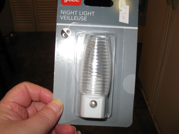 You will need a nightlight, $2.99 at Canadian tire, aisle 29 :-)