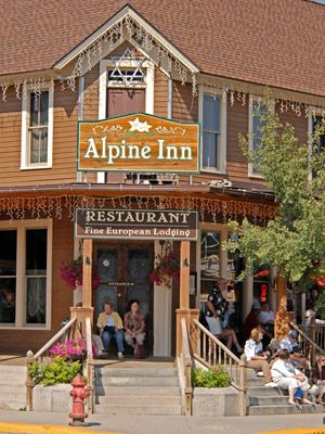 9 mi from Mt Rushmore - Alpine Inn, Hill City, South Dakota - German food for lunch, & the only choice for dinner is what size steak do you want.