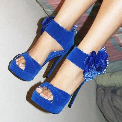 zapatos azul electrico marypaz
