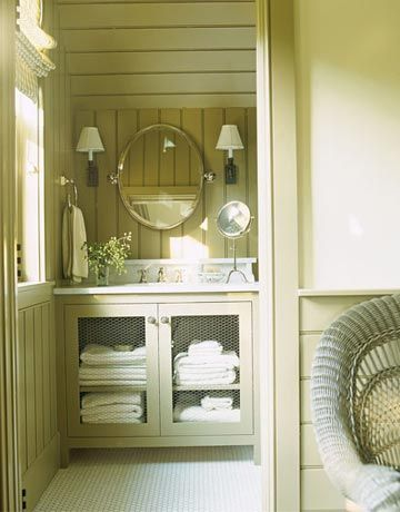 Cottage style design beautiful vanities and glasses - Beautiful bathroom vanity furniture ...