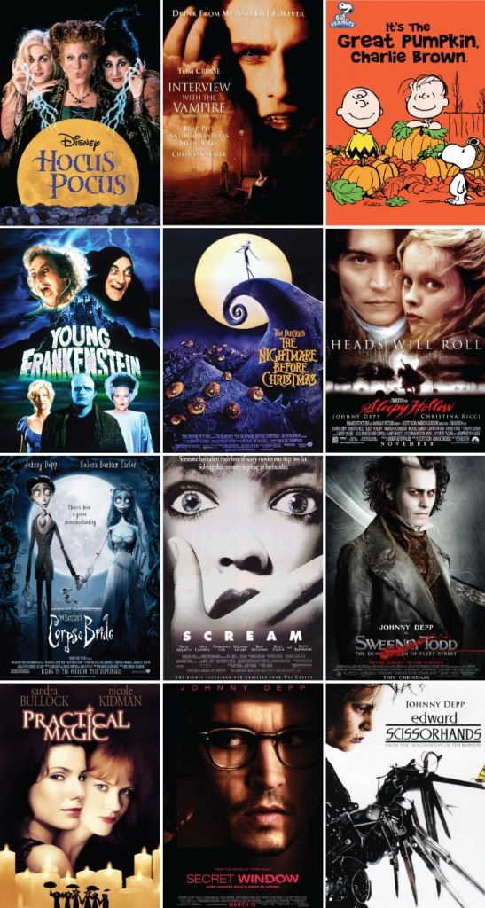 October Movie List aka just watch Johnny Depp. Lol