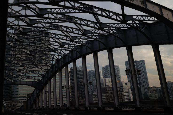 https://flic.kr/p/C9PoCJ | river-side walks | from Tsukudajima island to Kachidokibashi iron bridge. n.06
