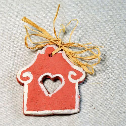 Rustikální vánoční ozdoba ze samotvrdnoucí hmoty Rustic handmade christmas ornaments