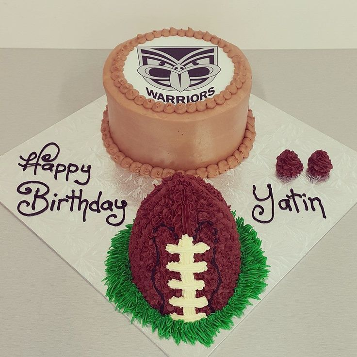 Edible Image Cake and Rugby Ball Cake