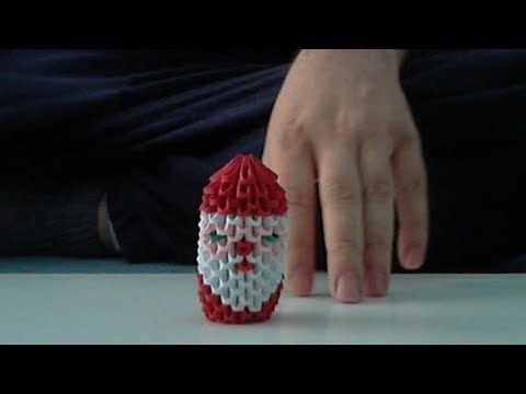▶ How to make 3d origami Santa Claus - YouTube