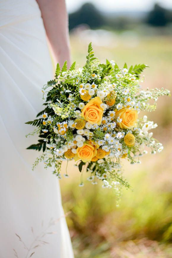 Yellow Sunny Bouquet - You always looked good in Yellow and I thought this would be a lovely wedding bouquet for you.