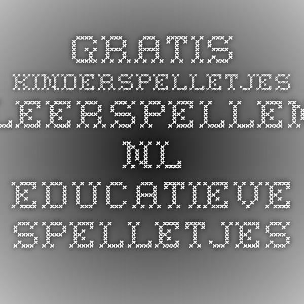 Gratis Kinderspelletjes - Leerspellen.nl educatieve spelletjes