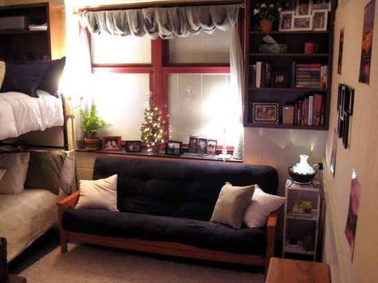 Dorm Room Design: 18 Stylish And Functional College Spaces : Decorating :  Home U0026 Garden Television  I Like The Burlap Curtain Idea Part 96