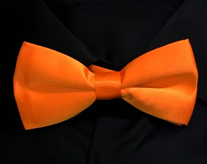 Coral Orange Bowtie Wedding Bow Tie Cotton Pre-Tied Groomsmen Bowties Groomsman Bowtie Best Man Bowties Usher Bow Tie Men's Bowtie