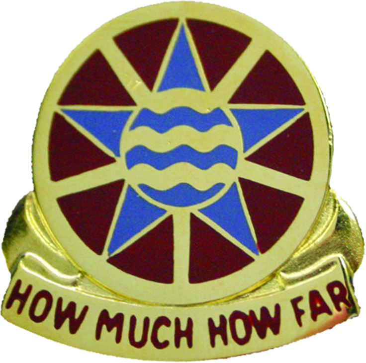 1144th Transportation Bn Unit Crest (How Much How Far)