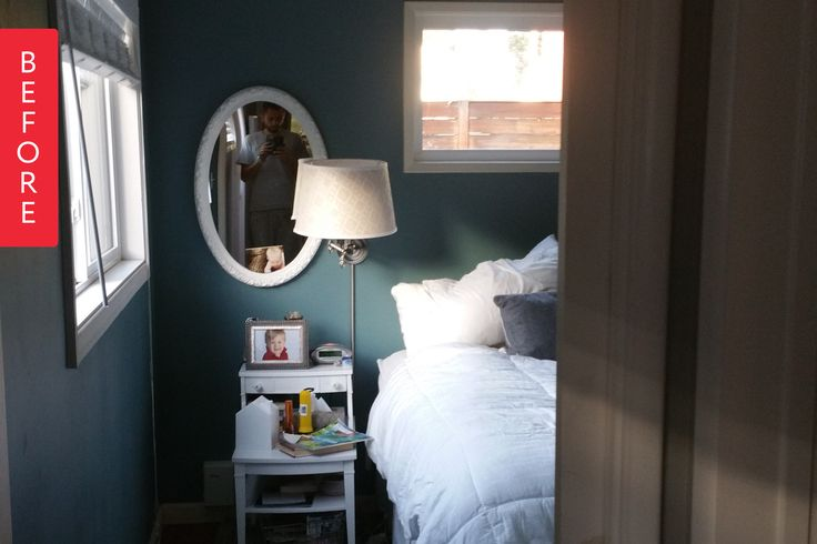 Before & After: A Dark Master Bedroom Brightens Up