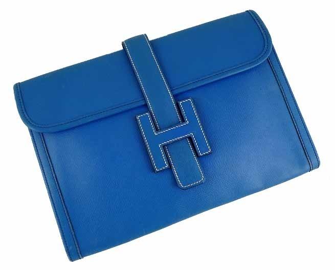Hermes Blue Jean Clutch