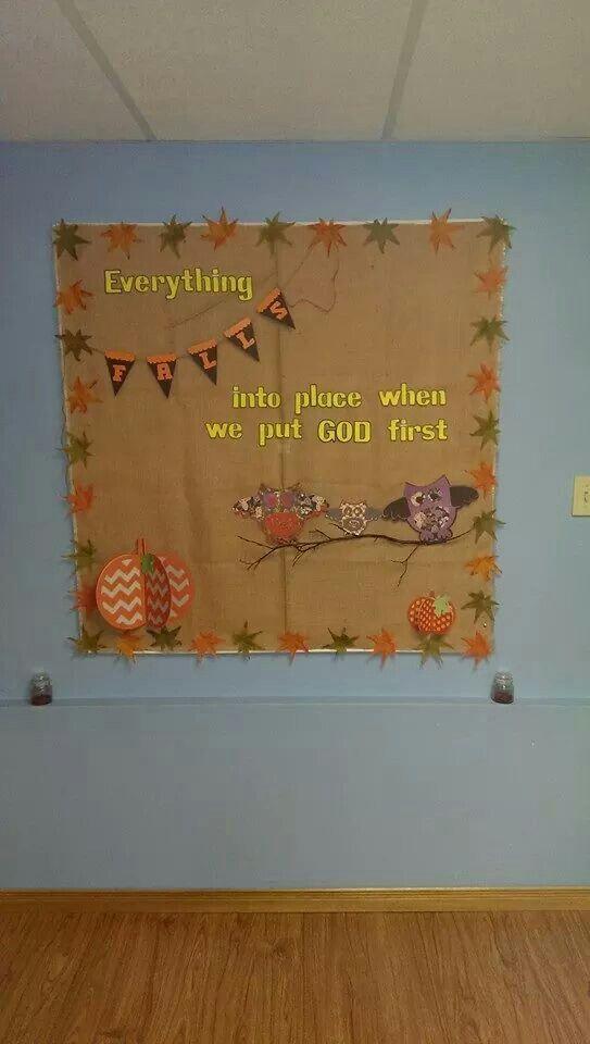 Beautiful fall bulletin board