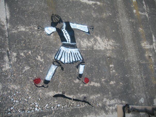 Tsolias skateboarder by bleeps.gr    #tsolias #τσολιάς #graffiti