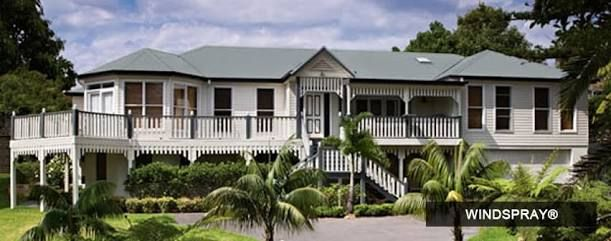 Image result for house with steel colorbond roof australia windspray