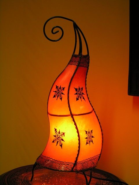 Moroccan curved henna lamp in orange. http://www.maroque.co.uk/showitem.aspx?id=ENT06492&s=20-30-199