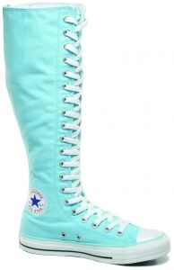 Light Blue Knee High Converse Shoes
