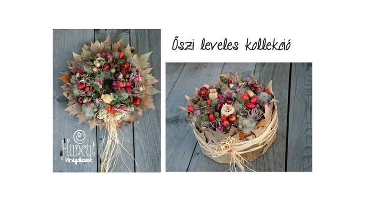 Autumn decoration with rose hips / Ajtódísz és asztaldísz őszi dekoráció kollekcióban