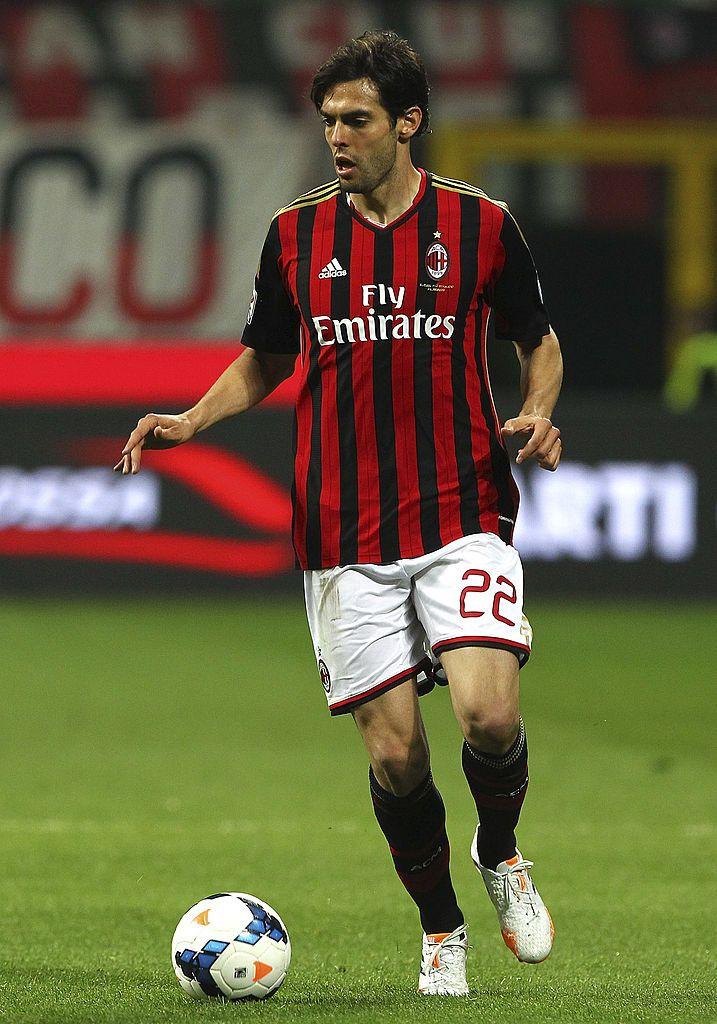 Ricardo Kaka Of Ac Milan In Action During The Serie A Match Between Ricardo Kaka Ac Milan Milan