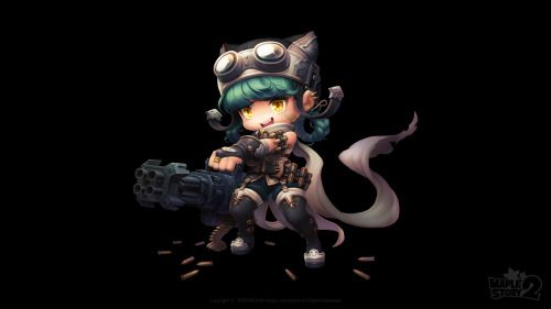 spadow:  The Heavy Gunner class in MapleStory 2! #maplestory2