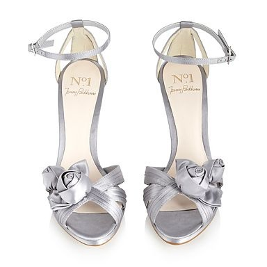 Silver rosebud corsage sandals - High heel shoes - Shoes & boots - Women -