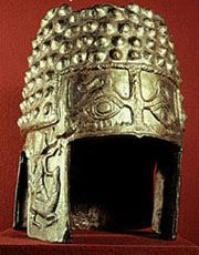 Dacian helmet - Apotropaic eyes of protection against harm.