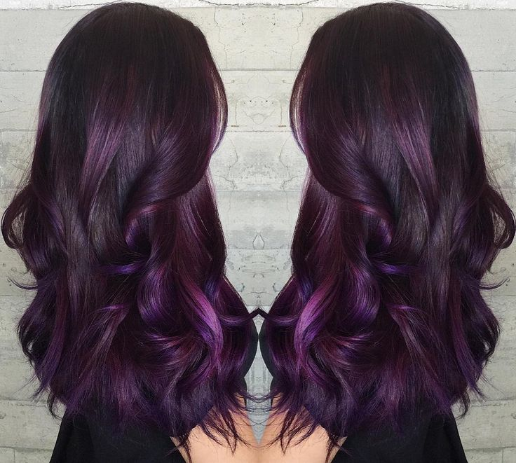 Purple highlights in black hair pictures the best black hair 2017 20 pretty purple highlights ideas for dark hair pmusecretfo Image collections