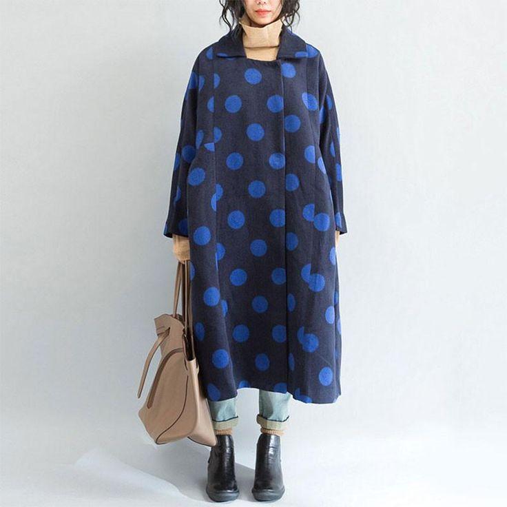 Dot Loose Wool Coat