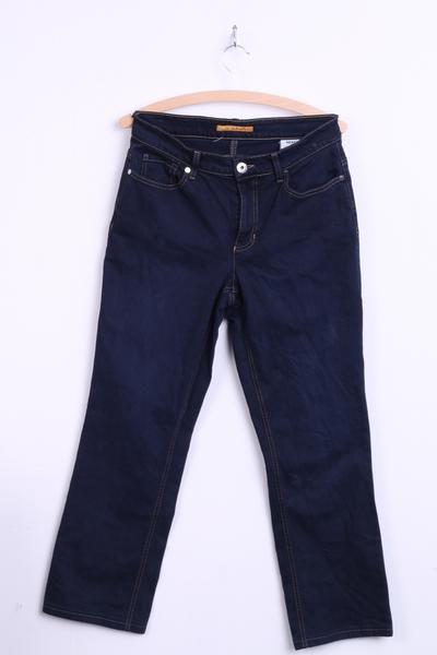 MAC Melanie Womens 42/34 Jeans Trousers Navy Cotton - RetrospectClothes