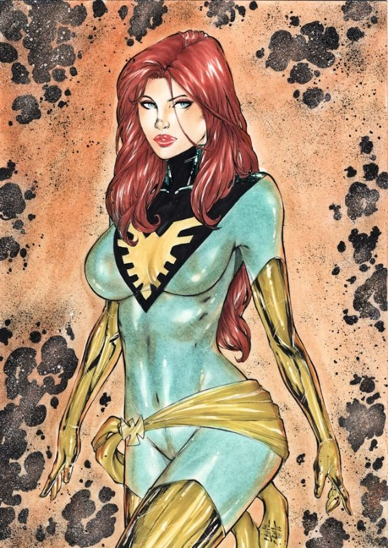 Phoenix (jean Grey) by Lanio Sena, in YannS's Comics sketches / commissions Comic Art Gallery Room