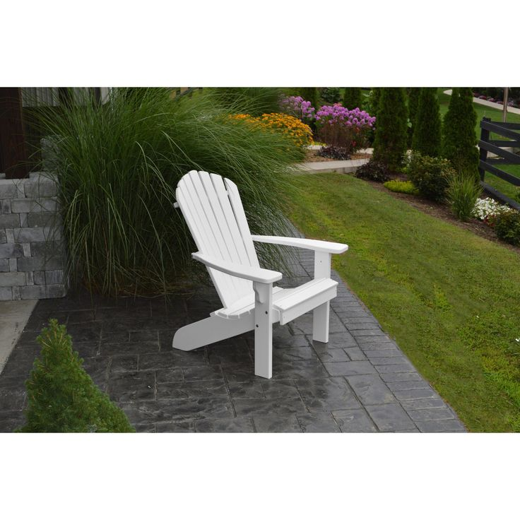 A L Furniture Company Recycled Plastic Fanback Adirondack Chair