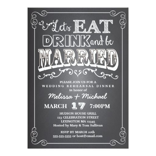 282 best Eat Drink and Be married Wedding Invitations images on
