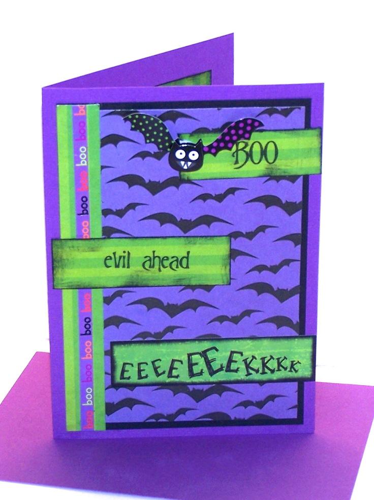 Halloween Card  Evil Ahead - Halloween Card - Handmade Halloween Card. $ 5.50, via Etsy.
