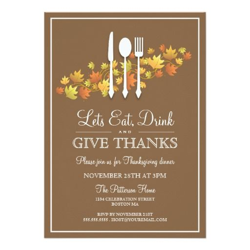Best Thanksgiving Invitations Images On   Lyrics