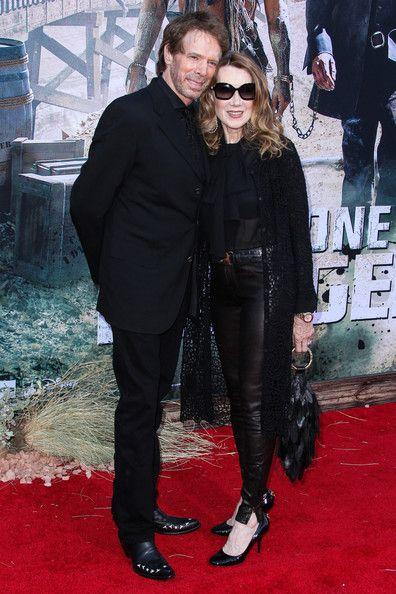 Jerry Bruckheimer and Linda Bruckheimer arrive at the premiere of Walt Disney Pictures 'The Lone Ranger' at Disney California Adventure Park in Anaheim. (June 22, 2013)